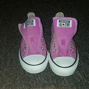Pink converse good condition with a few marks
